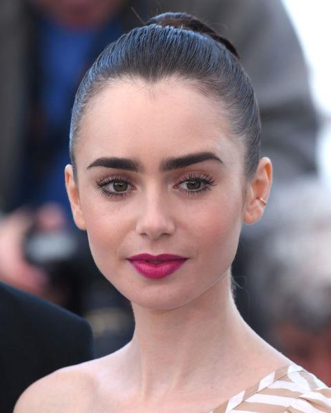 **NO.6 LILY COLLINS**  Those brows though. We're forever in awe of Lily Collins' epic eyebrows.