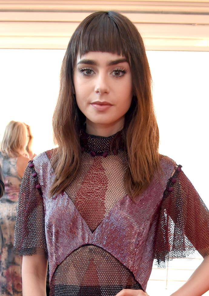 A straight fringe at the *Vanity Fair* and HBO dinner.