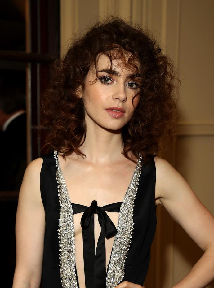 '80s curls at the Netflix Party.