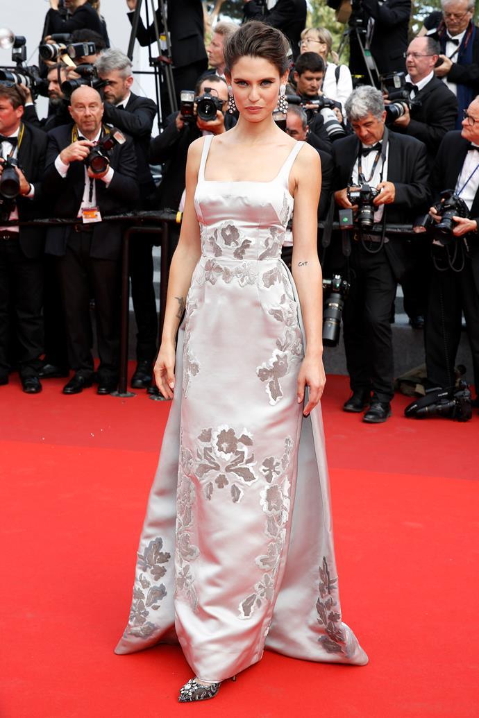 Bianca Balti in Dolce and Gabbana Alta Moda