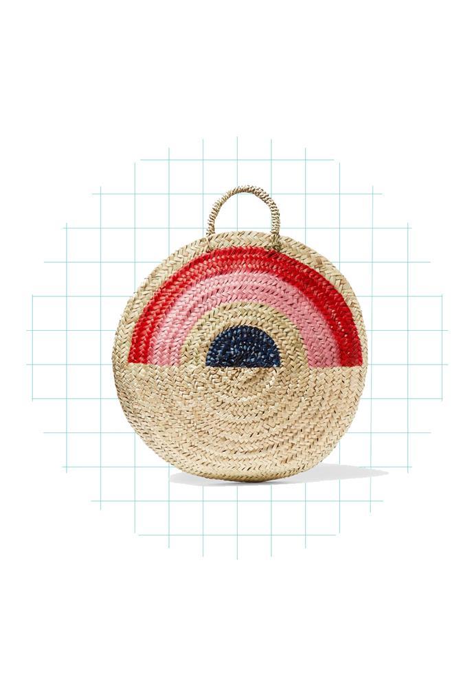 Tote, $250, [Vanessa Seward at net-a-porter.com](https://www.net-a-porter.com/au/en/product/861329/Vanessa_Seward/dakar-painted-straw-tote).