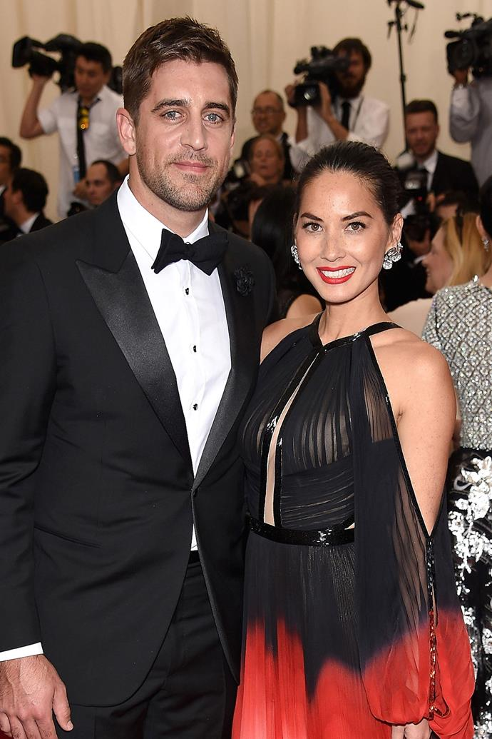 **Olivia Munn and Aaron Rodgers**  Olivia and Aaron, the quarterback for the Green Bay Packers, [split in April](http://people.com/celebrity/olivia-munn-aaron-rodgers-split/) after three years of dating.