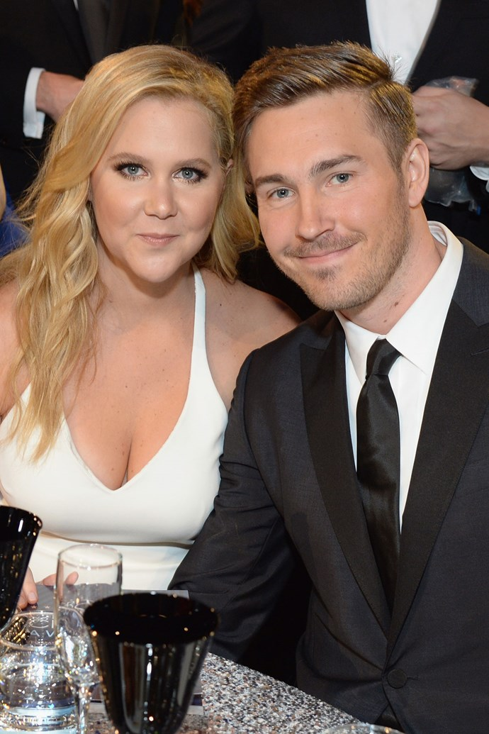 "**Amy Schumer and Ben Hanisch**  After nearly two years of dating, Amy's rep released this statement to [*E! News*](http://www.eonline.com/news/781571/amy-schumer-and-boyfriend-ben-hanisch-split-after-almost-2-years-of-dating): ""Amy and Ben have ended their relationship after thoughtful consideration and remain friends."""