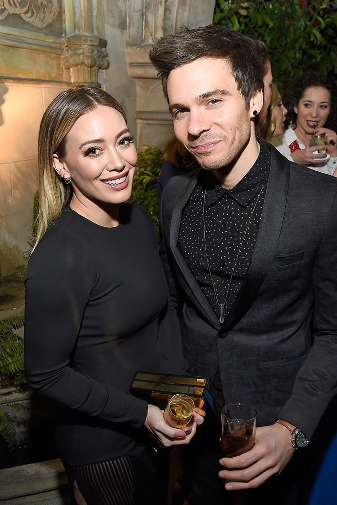 **Hilary Duff and Matthew Koma**  Hilary and Matthew, a musician and producer, broke up in April after a few months of dating. *E! News* reported that their busy schedules were to blame.