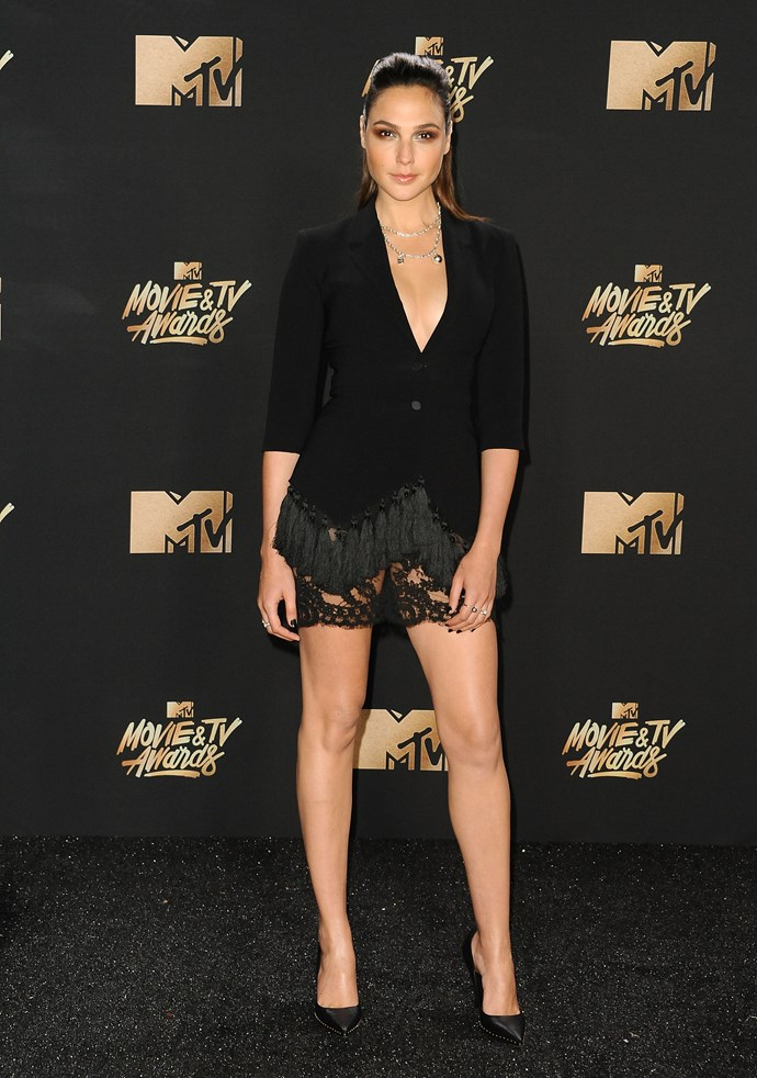 Gal Gadot at the MTV Movie Awards in Los Angeles.