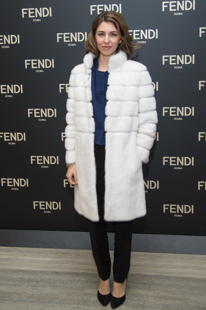 At the opening of the Fendi flagship store in NYC in 2015.