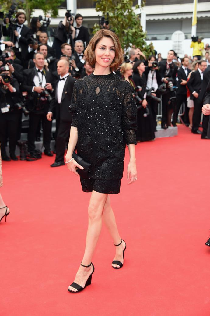 In Valentino at the *Grace of Monaco* premiere at the 2014 Cannes Film Festival.