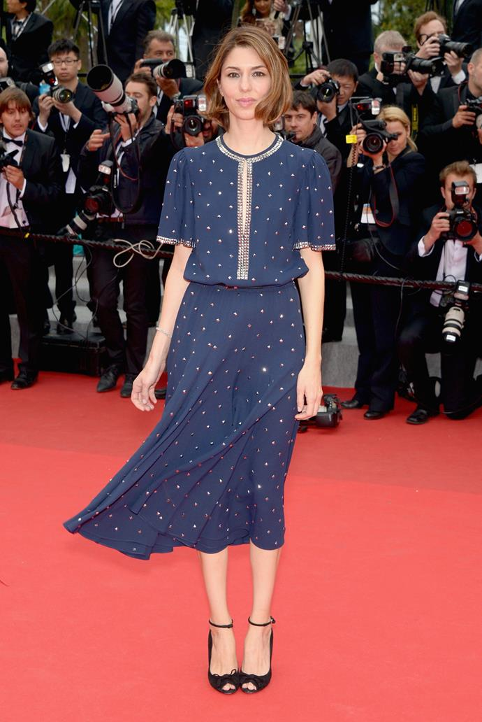 In Michael Kors at the *Foxcatcher* premiere at the 2014 Cannes Film Festival.