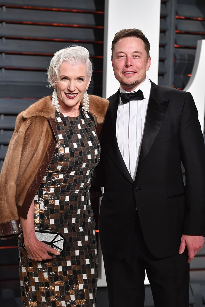 Musk and his mother, Maye.