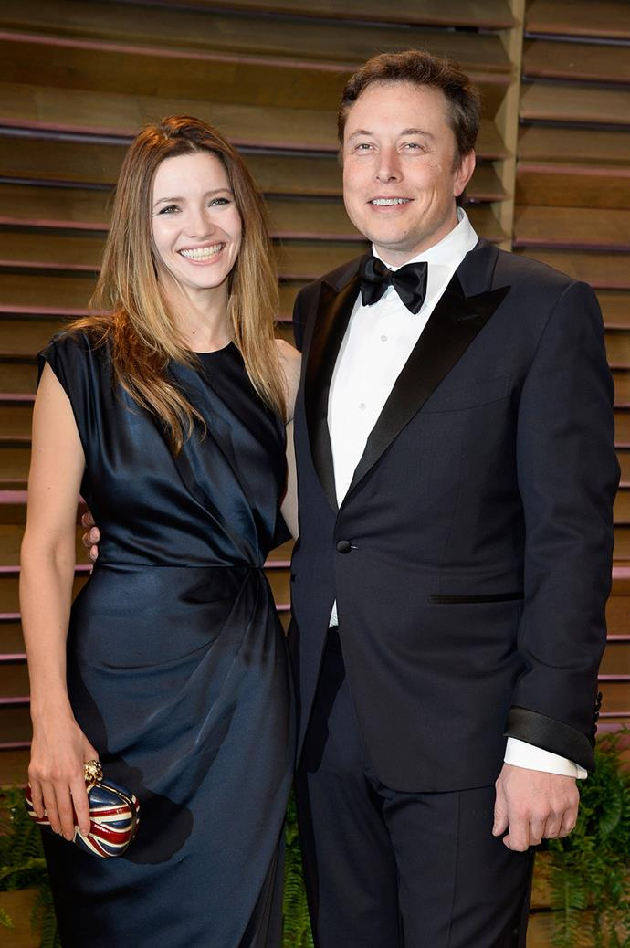 Musk with Talulah Riley.