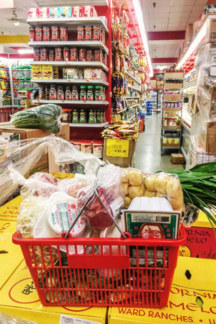 """""""My ultimate life hack in New York is grocery shopping in Chinatown. Hong Kong Supermarket is my weekend jam. My mother is so proud."""""""