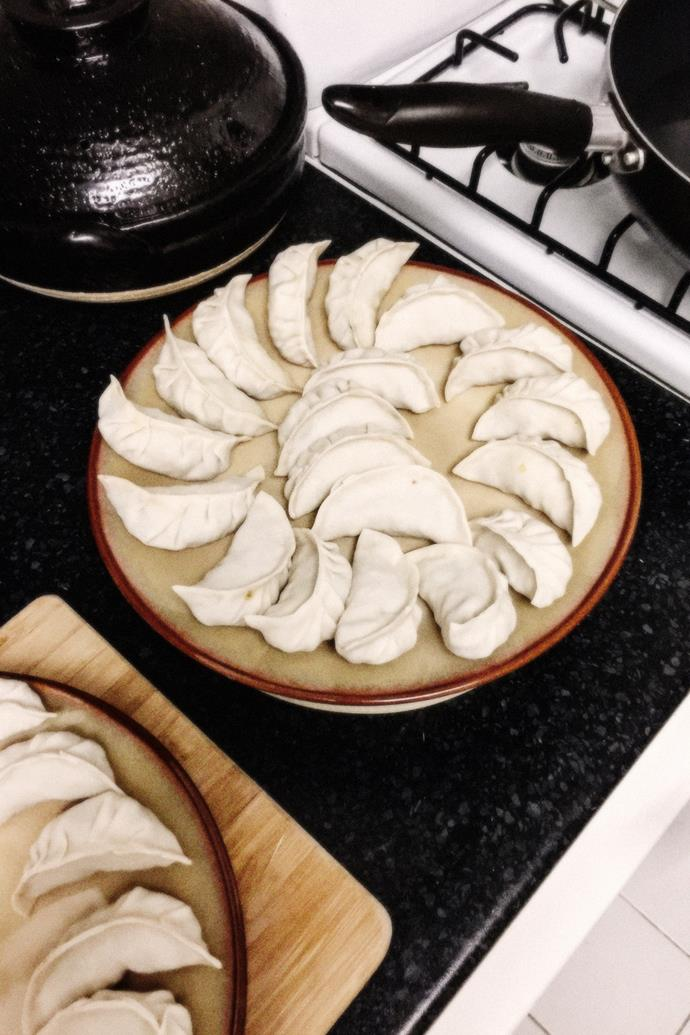 """""""I have friends over at least once a week for homemade dumplings."""""""