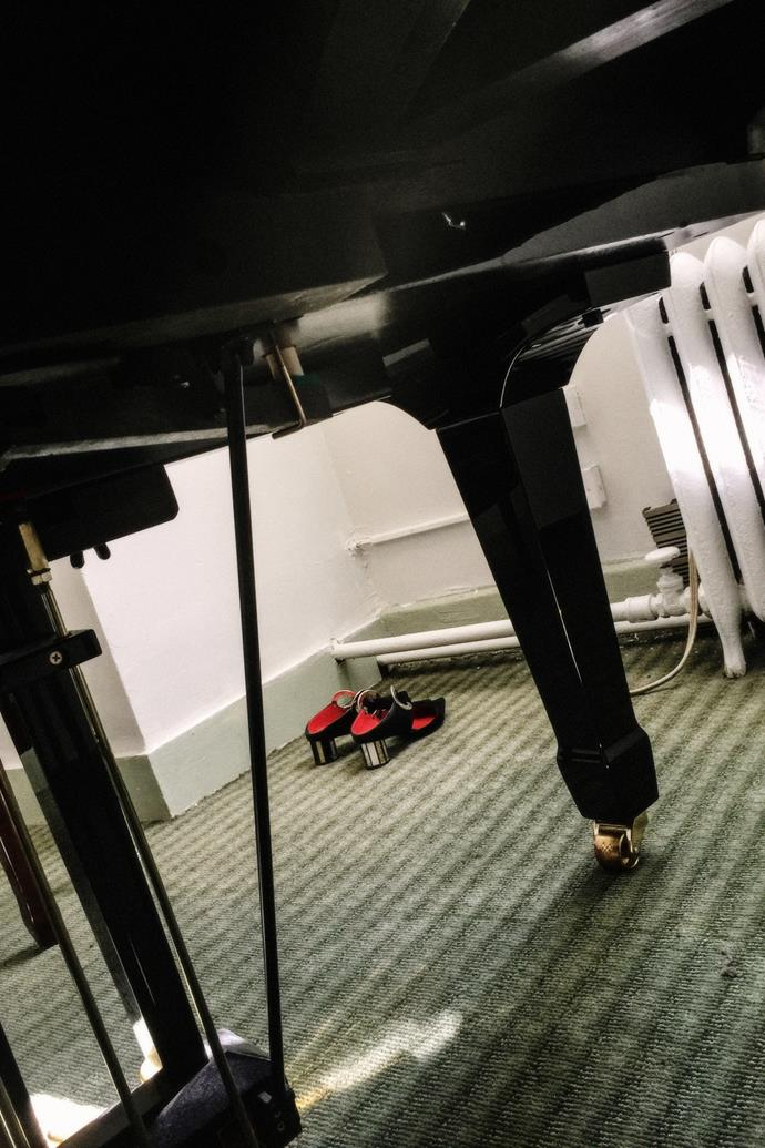 """""""My go-to piano rehearsal studio in the Theatre District—I often wonder how different my life would have been as a musician, an always get secret FOMO from the huge range of very talented people who cycle in and out of all the rehearsal rooms here, and the people constantly lining the halls doing vocal warm-ups for castings."""""""