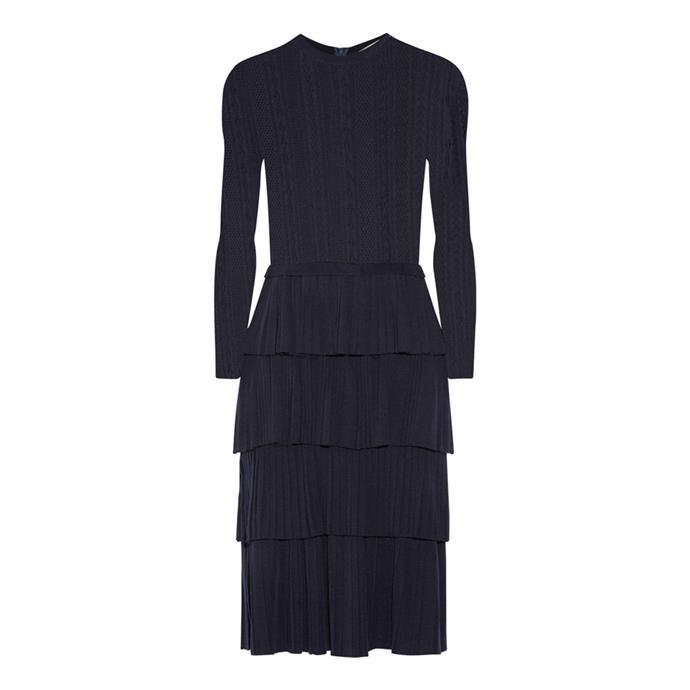 Dress, $3,478, [Oscar de la Renta at net-a-porter.com](https://www.net-a-porter.com/au/en/product/789026/Oscar_de_la_Renta/tiered-pointelle-knit-wool-dress).