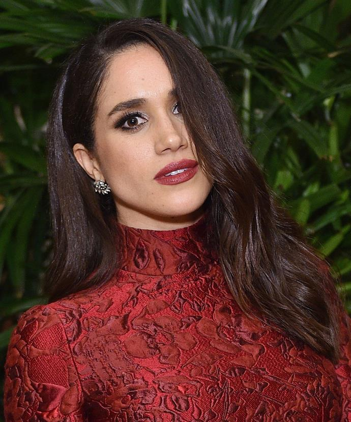 """**Megan Markle.** The [*Suits*](http://www.elle.com.au/celebrity/meghan-markle-suits-script-reading-appearance-13406) star's hair file reads thick and glossy. For a similar M.O. start by parting your hair to one side when wet. Apply an anti-frizz balm, such as [Philip Kingsley PK Prep Polishing Balm](https://www.net-a-porter.com/au/en/product/767521/PHILIP_KINGSLEY/pk-prep-polishing-balm-75ml