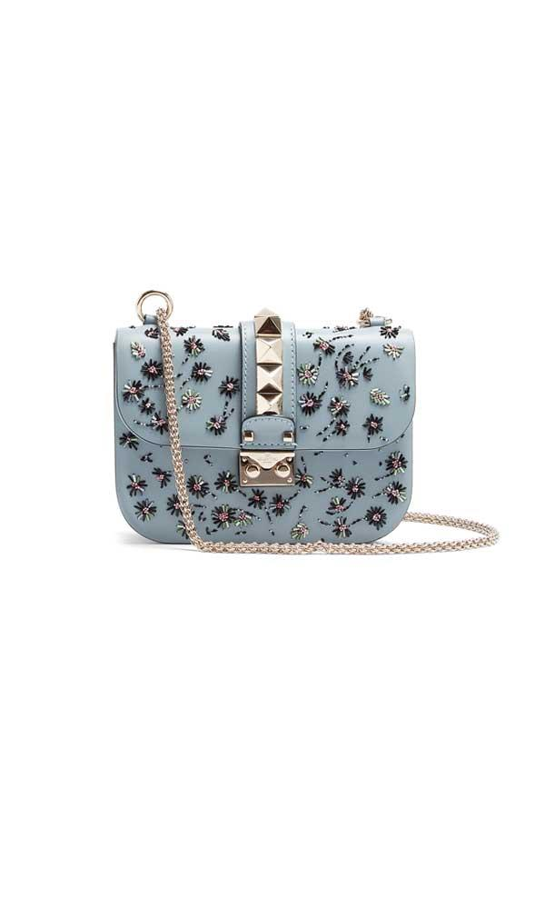 Bag, $2,859, Valentino at [Matches Fashion](http://www.matchesfashion.com/au/products/Valentino-Lock-small-embellished-leather-shoulder-bag-1158586)