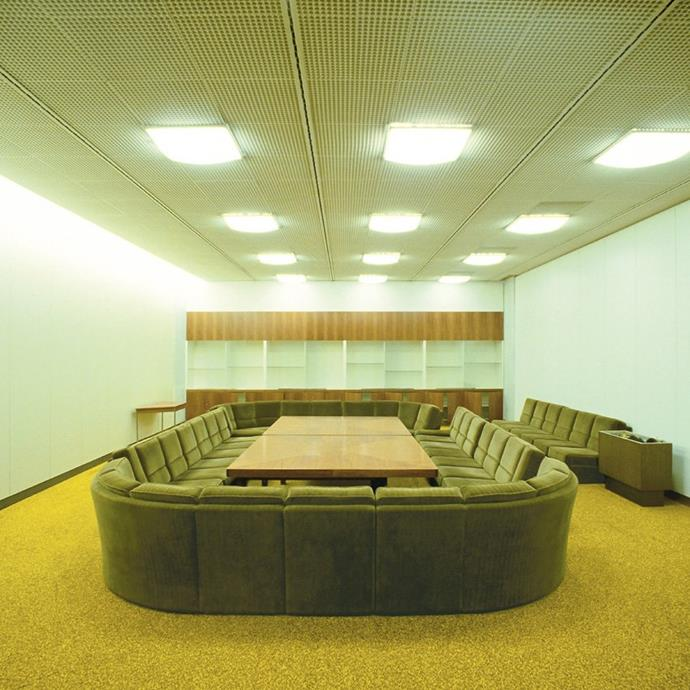 This conference room in the former Palast der Republik in Berlin.