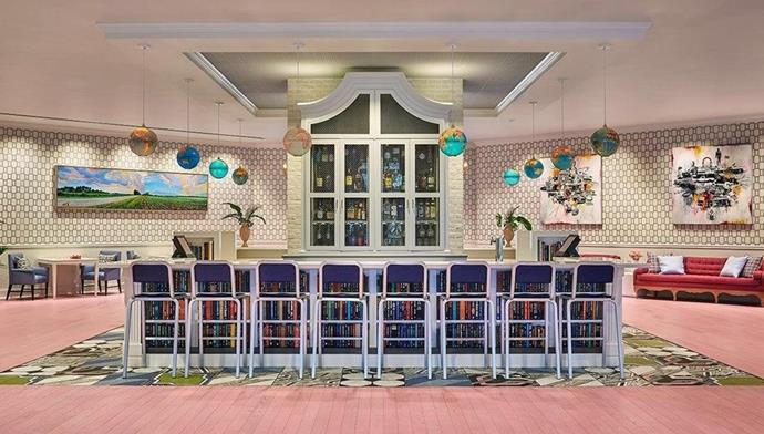 This lobby bar of the Graduate Hotel in Mississippi.