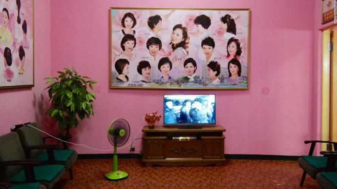 This beauty salon in North Korea.