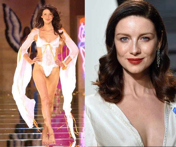 **Caitriona Balfe**  Best known for her role as Claire Fraser in the popular series *Outlander*, Caitriona is a former Victoria's Secret model. She walked the runway in 2002.