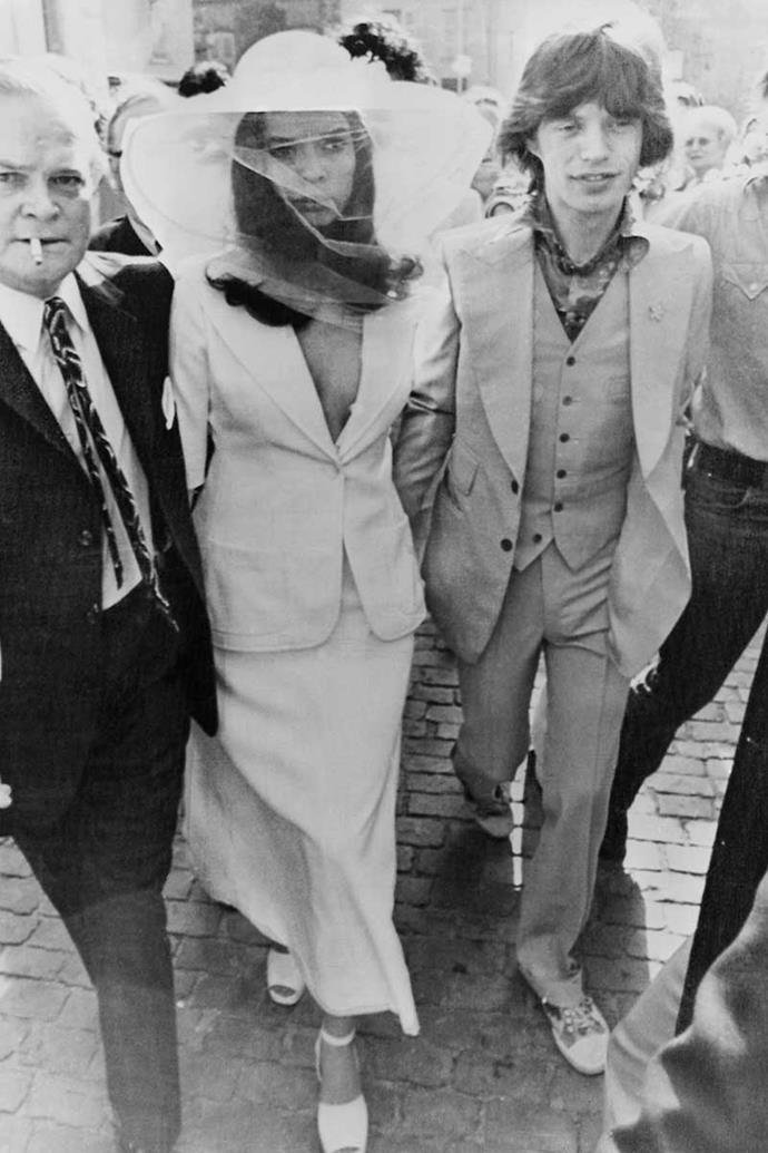 Bianca and Mick Jagger, 1971