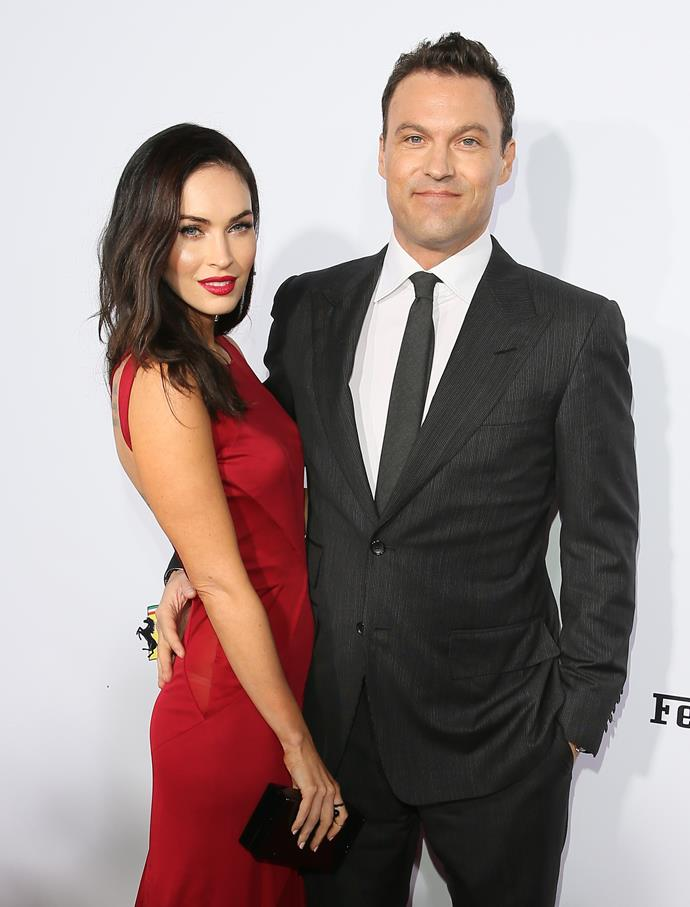 **Megan Fox and Brian Austin Green** <br> <br> Megan Fox and Brian Green began dating in 2004 after meeting on the set of *Hope & Faith*. They were engaged by 2006, but called it quits three years later. Reuniting soon after, the pair were married in 2010, and welcomed three sons, Noah, Bodhi and Journey. Sadly, the pair announced their divorce in 2020 after 10 years of marriage.