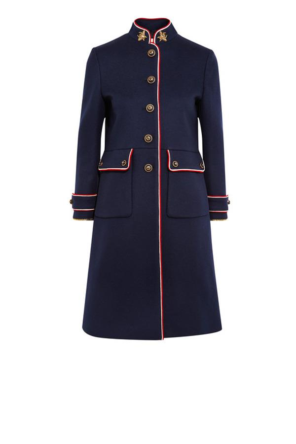 "**A Military Coat:** Classic navy is always a safe bet, but this season the best styles come with contrasting trim and  statement-making accoutrements. Coat, $3,320, Gucci at [Net-a-Porter](https://www.net-a-porter.com/au/en/product/803126/gucci/embellished-metallic-trimmed-wool-felt-coat|target=""_blank""