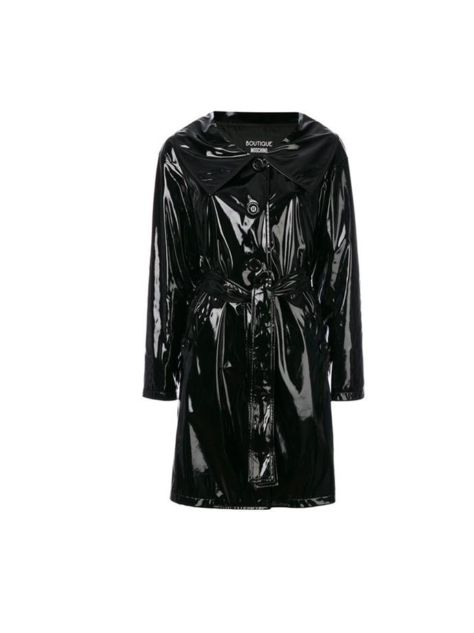 "**A Wet-Look Mac:**  If you want to make a statement with your outerwear this winter opt for a PVC or high-shine fabrication. Added bonus? It's waterproof. Coat, $1,535, Moschino at [Farfetch](https://www.farfetch.com/au/shopping/women/boutique-moschino-belted-trench-coat-item-12163007.aspx?storeid=9336&from=listing&tglmdl=1&rnkdmnly=1&ffref=lp_pic_20_3_|target=""_blank""