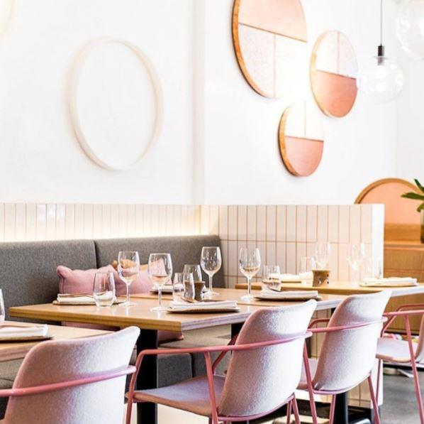 "**Nour Restaurant, Sydney**   Another restaurant indulging our unconditional love of millennial pink. Go for the delicious Lebanese food, stay for the photo ops.    [*@NourRestaurant*](https://www.instagram.com/nourrestaurant/|target=""_blank"")"