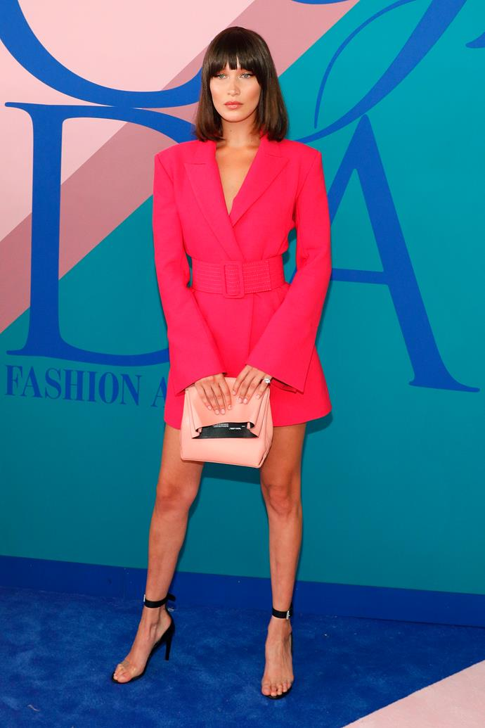 In Off-White at the CFDA awards.