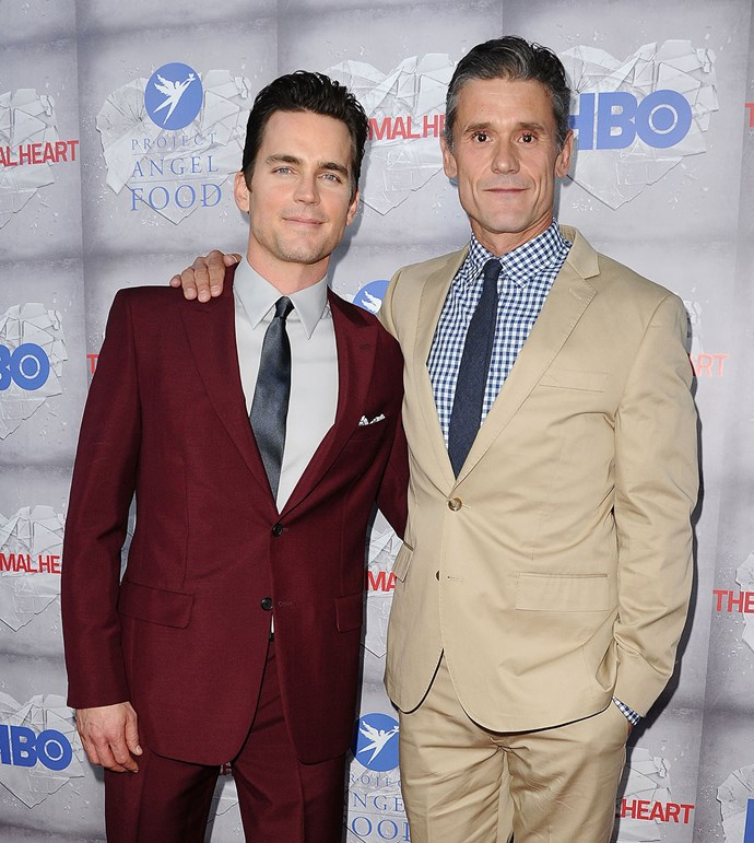 <strong>Matt Bomer</strong> <br><br> Matt and his husband, publicist Simon Halls, have been married since 2011 and have three sons together, including a set of twins, who were born via surrogacy.