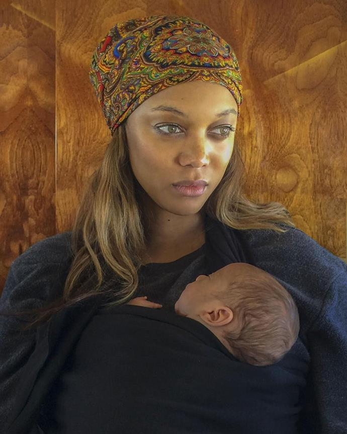 "<strong>Tyra Banks</strong> <br><br> Tyra and her boyfriend, Erik Alsa, welcomed their first child, a son named York Banks Asla, via surrogate in January 2016. ""The best present we worked and prayed so hard for is finally here. He's got my fingers and big eyes and his daddy Erik's mouth and chin. As we thank the angel of a woman that carried our miracle baby boy for us, we pray for everyone who struggles to reach this joyous milestone. York Banks Asla, welcome to the world,"" [Tyra wrote](https://www.instagram.com/p/BBEF9b1KQD4/) on Instagram."