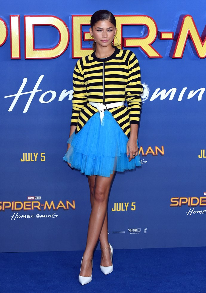 Zendaya in Molly Goddard.