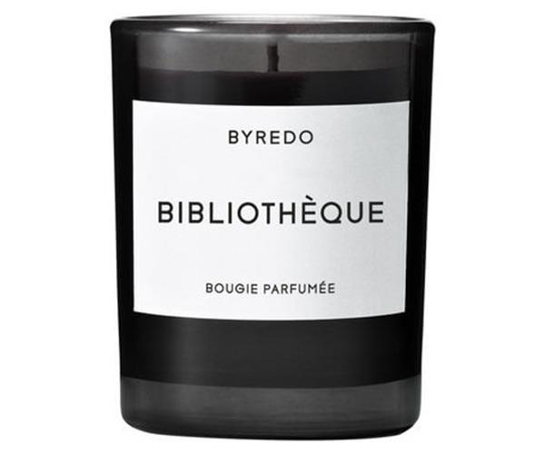 Byredo Bibliothèque Candle, $38, at [MECCA](http://www.mecca.com.au/byredo/bibliotheque-candle/V-018296.html#q=byredo&gclid=CjwKEAjwytLKBRCX547gve7EsE4SJAD3IZV6XAADdW01iw9mYUsVfhnT-ZmppfD3gBD0HtrE7VQSbBoCEmjw_wcB&start=1).