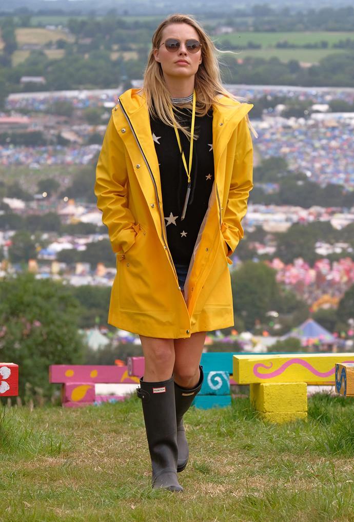 Margot at Glastonbury.