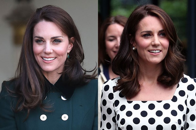 **Kate Middleton** <br><br> The Duchess of Cambridge debuted her new short hair at Wimbledon.
