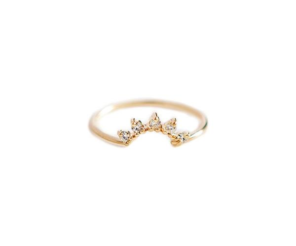 **Diamond Crown Ring, $990, [Louise Jean](https://louisejean.com/collections/rings/products/diamond-crown-ring)** <br> <br> The essence of Louise Jean jewellery is simple: to create versatile and elegant pieces with simplicity at their core.  If you're loving the stackable wedding ring trend, this five-diamond crown set ring is perfect to pair with a plain band, or even a ring with a solitaire stone, and is available in 14k gold, white gold and rose gold.