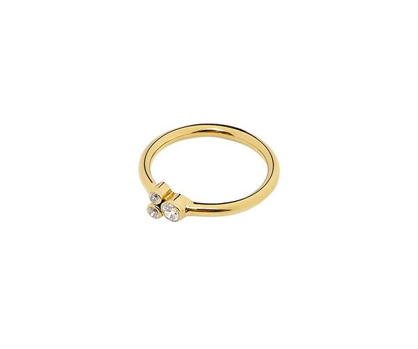**Gold Cuatro Estrella Ring with Diamond, $920, [Holly Ryan](https://hollyryan.com.au/collections/rings/products/gold-cuatro-estrella-ring)** <br> <br> With a style best described as 'polished organic minimalism', Australian jewellery designer Holly Ryan sets herself apart by chipping away inessential elements and putting to use her knowledge of scale when creating her contemporary, yet classic, pieces. <br> <br> The 'Cuatro Estrella' ring (which translates to 'four stars' in Spanish) features a three diamond cluster on the front of the 14k gold ring, and a fourth stone hidden in the back of the ring as an extra something special.