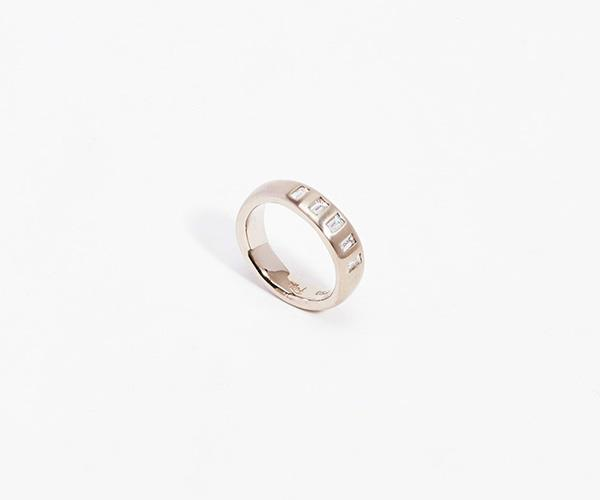 **Matrimonio Ring, $4750, [Lucy Folk](https://lucyfolk.com/matrimonio-ring-18kt-white-gold-o-lfr0028-c)** <br> <br> Pulling design inspiration from art, food and travel, Australian jewellery designer Lucy Folk dares to go where others in the jewellery game don't and sometimes translates inspiration to design quite literally. Exhibit A: A taco friendship bracelet. <br> <br> Perhaps one of Folk's tamer designs, this satin-finish, 18k ring (available in white and rose gold) with its five white diamond baguettes, ticks both the 'simple' and 'timeless' boxes.