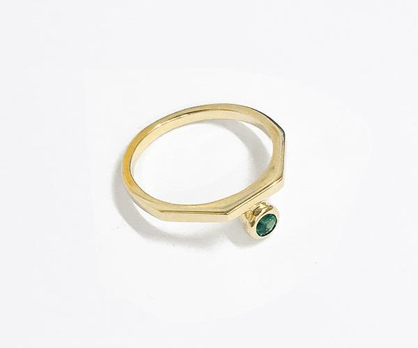 **El Ring with Emerald, $850, [Natasha Schweitzer](http://natashaschweitzer.com/product/el-ring-with-emerald-9k-yellow-gold/)** <br> <br> If you're after a ring that will compliment your everyday yellow gold jewellery, then this 9k yellow gold with a single emerald is the ring for you.