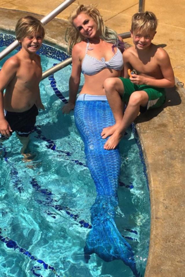 **Britney Spears' Mermaid Bikini**