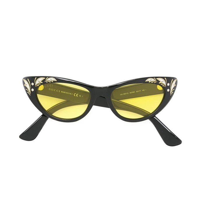 Sunglasses, $480, [Gucci at farfetch.com](https://www.farfetch.com/au/shopping/women/gucci-eyewear-cat-eye-sunglasses-item-11791282.aspx?storeid=10144&from=1&ffref=lp_pic_217_2_).