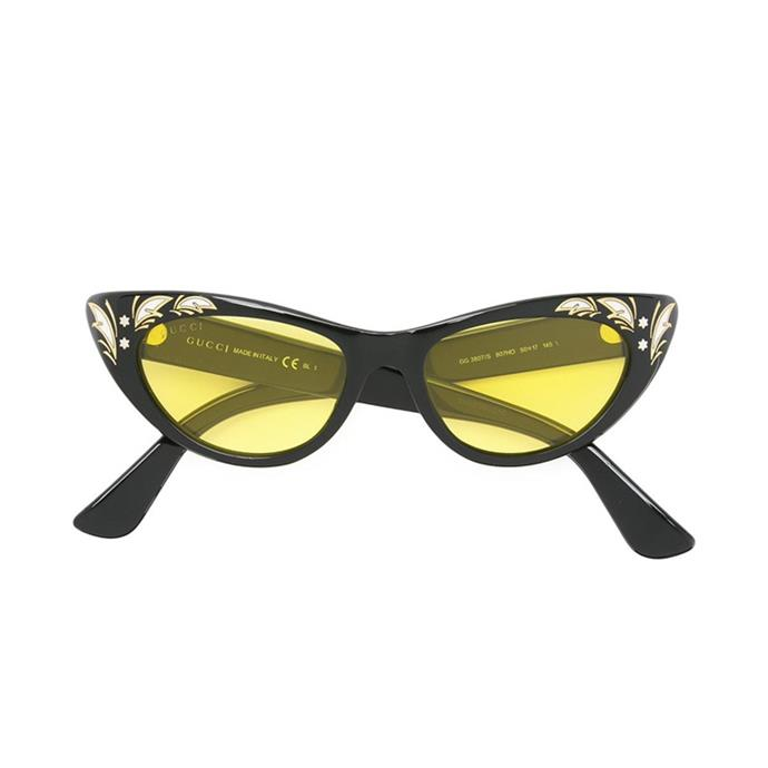 Sunglasses, $480, [Gucci at farfetch.com](https://www.farfetch.com/au/shopping/women/gucci-eyewear-cat-eye-sunglasses-item-11791282.aspx?storeid=10144&from=1&ffref=lp_pic_217_2_).