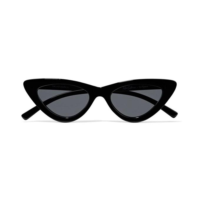 Sunglasses, $116, [Adam Selman x Le Specs at net-a-porter.com](https://www.net-a-porter.com/au/en/product/937693/le_specs/--adam-selman-the-last-lolita-cat-eye-acetate-sunglasses).