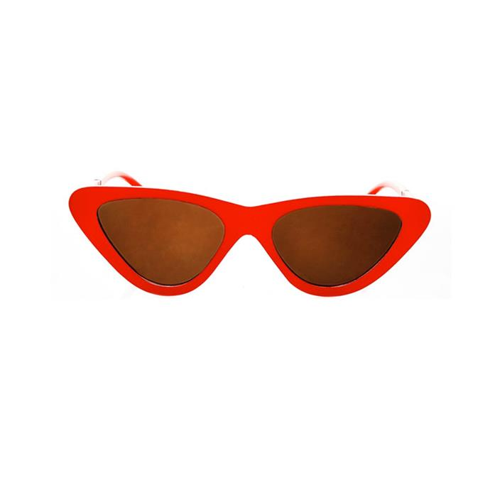 Sunglasses, $33, [Topshop](http://www.topshop.com/en/tsuk/product/bags-accessories-1702216/sunglasses-468/polly-90s-pointy-cat-eye-sunglasses-6749086?bi=0&ps=20).