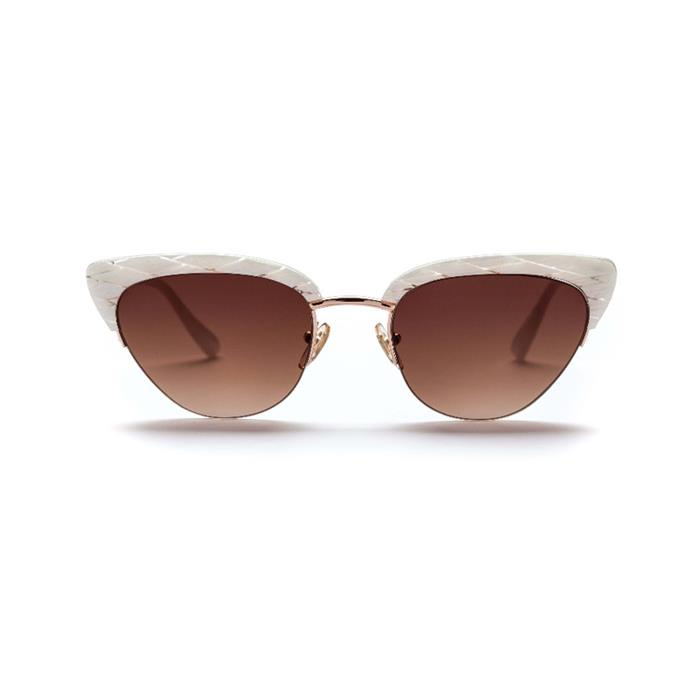 Sunglasses, $290, [Sunday Somewhere](https://sundaysomewhere.com/products/pixie-1?variant=39357707908).