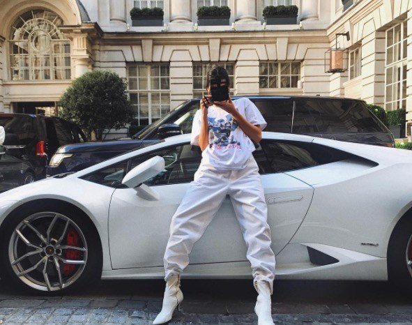 **KENDALL JENNER** <br></br> Kendall shows off her photography skills while dressed in a summer-white ensemble in France.