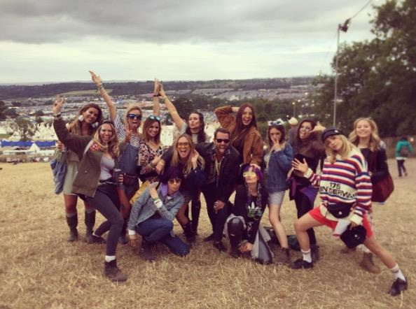 **MARGOT ROBBIE AND CARA DELEVINGNE** <br></br> The *Wolf of Wall Street* actress celebrated a mud-free Glastonburry with her *Suicide Squad* co-star Cara Delevingne.