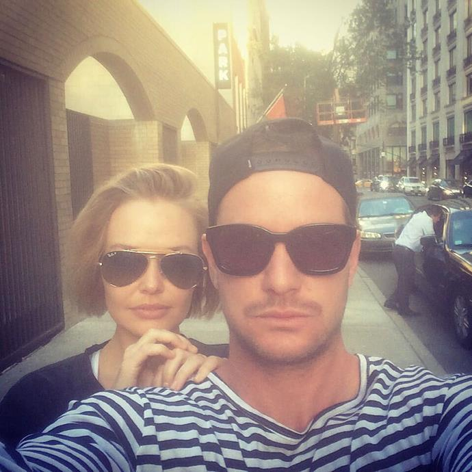 **Lara Worthington** with her brother, **Josh**.