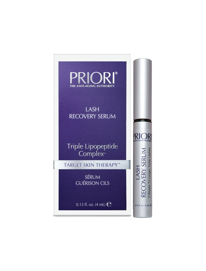 Priori Lash Recovery Serum, $99, at [Priori Cosmetics](https://www.prioricosmetics.com.au/products/priori-lash-recovery-serum-with-triple-lipopeptide-complex-4ml?gclid=Cj0KCQjwy4zLBRCOARIsADfss34Mq6PqIp_X8ERbyKDOz5PFHfrOJR8ZwcOetnvLjjwGZhEHm29uKG8aAkbuEALw_wcB) <br> <br> An oldie but a goodie. The potent petide complex promises noticeable results after two weeks of use.